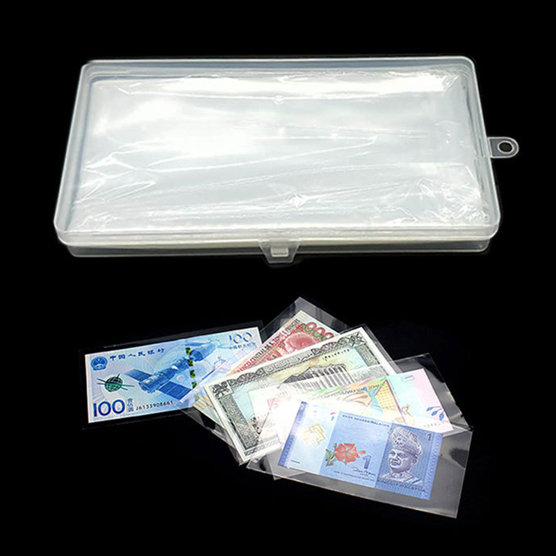 Storage 60pcs Paper Money Currency Banknote Collection Album Pocket Book