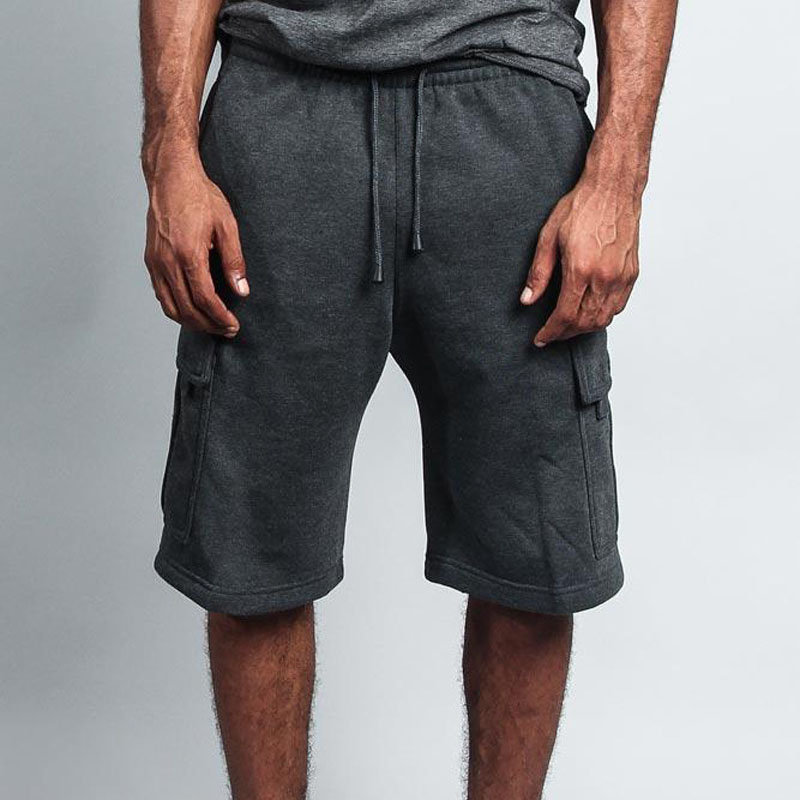 Man Shorts Summer Fashion Solid Color 2020 Casual Jogger Long Cargo Shorts Men Pocket Gyms Fitness Bodybuilding Shorts Sports