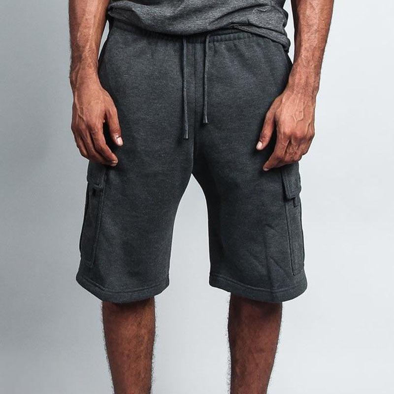 Man Shorts Summer Fashion Solid Color 2020 Casual Jogger Long Cargo Shorts Men Pocket Gyms Fitness Bodybuilding Shorts Sports