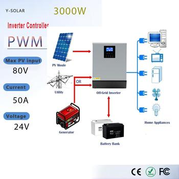 PowMr Solar Inverter 3KVA 24V 220V 110V Hybrid Inverter Pure Sine Wave Built-in 50A PWM Solar Charge Controller Battery Charger powmr solar inverter 3kva 24v 220v 110v hybrid inverter pure sine wave built in 50a pwm solar charge controller battery charger