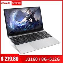 15.6 inch 8G RAM 128G/256G/512G M.2 SSD Laptop Office/Gaming Computer Intel J316