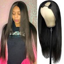 U Part Wig Human Hair For Black Women Straight Long 30 Inch