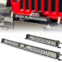 Ultra ince LED ışık çubuğu 10 inç 20 inç çift sıra led çubuk Combo işın çalışma lambası sürüş ışıkları oto Jeep kapalı yol 4x4 12V 24V