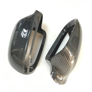 Image 5 - For Audi A4 B8 A6 C6 A5 8T Q3 A3 8P Real Carbon Fiber Mirror Cover Rearview Side Mirror Cap S Line
