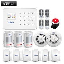 KERUI système dalarme de sécurité domestique sans fil G18, GSM, intelligent SIM, contrôle avec application Android/IOS, capteur de mouvement, capteur anti cambriolage