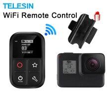 TELESIN Wifi télécommande avec chargeur câble dragonne 80M étanche télécommande obturateur pour Gopro Hero noir 7 6 5 3 accessoire