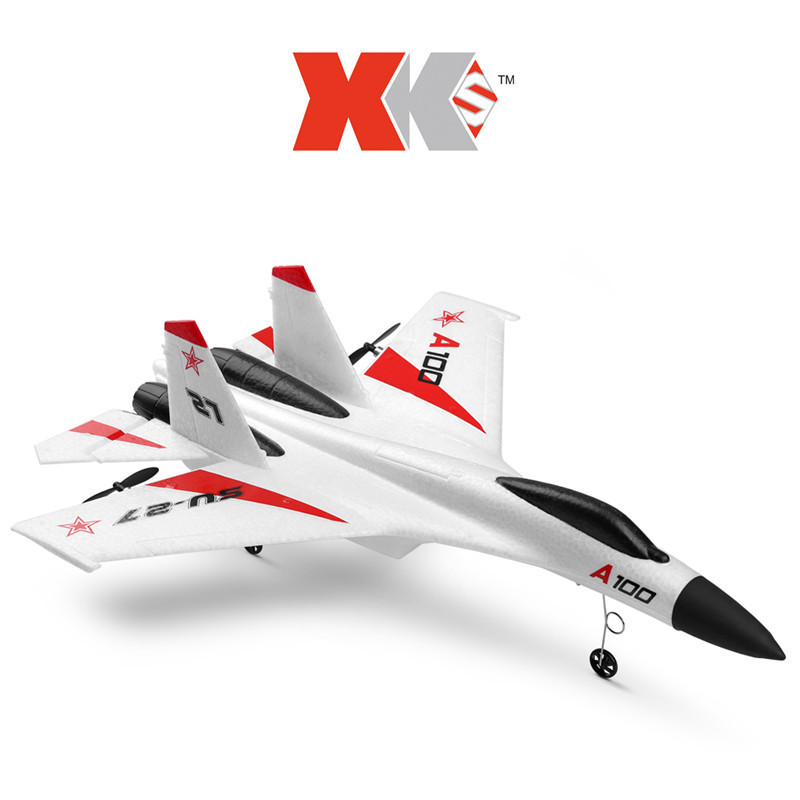 Wltoys XK A100-SU27  Model RC Plane 2.4G 3CH EPP Three-Channel Fixed-Wing Remote Control Glider Airplane RTF RC Wingspan Toy