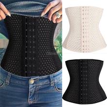 Women Waist Trainer Latex Cincher Girdles Shapewear Slimming Belt Body Shaper Fitness Corset Sheath Plus Size XXL