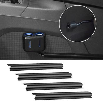 4Pcs Car Vehicle Invisible Cable Wire Fixing Protection Cover Sleeve Organizer Wire harness Clip Bandage image