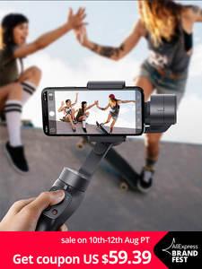 Baseus Selfie-Stick Gimbal-Stabilizer Action Camera Outdoor-Holder Handheld iPhone Pull--Zoom