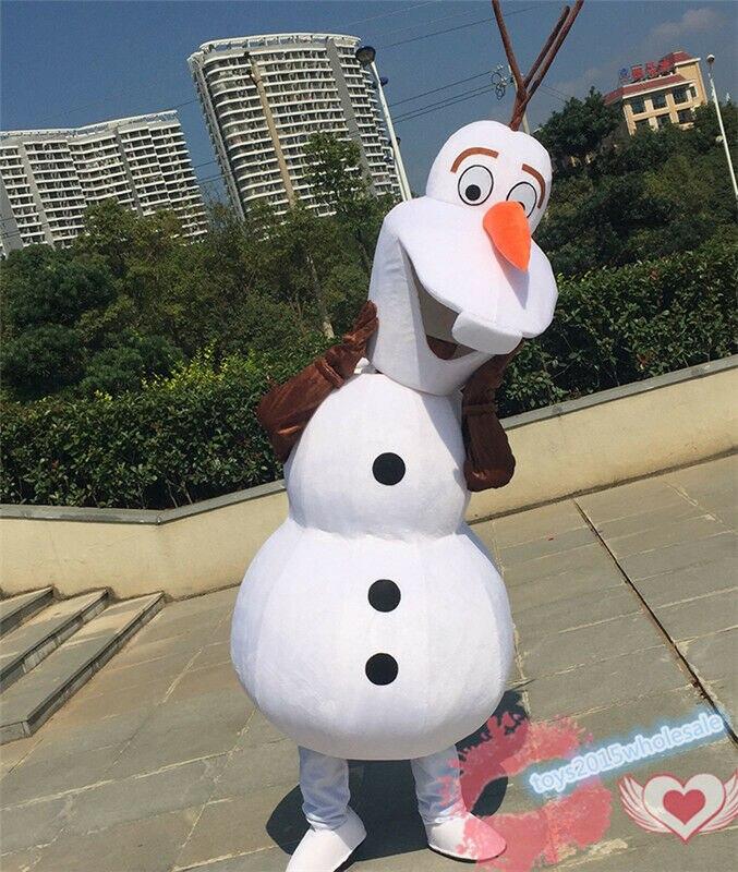 Noël noël fête bonhomme de neige en plein air Olaf Cosplay mascotte Costume fête tenues adulte unisexe déguisement costumes Halloween nouveau