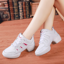 New Soft Out Sole Breath Dance Shoes Women Professional Modern Jazz Sneakers Practice Women's Dancing Novice Practice Shoes