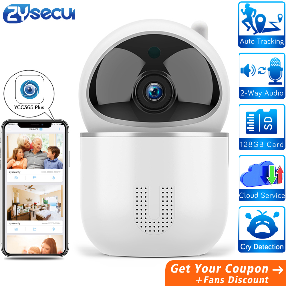 1536P Auto Tracking Surveillance Camera Wifi YCC365 Cloud SD Card Home Security Wireless Network CCTV IP Camera PTZ With RJ45