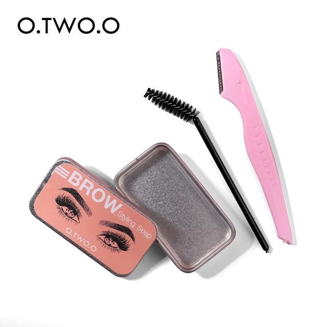 O.TWO.O Sobrancelha Cera De Sabão Com Aparador de Sobrancelhas de Penas Fofo Pomada Gel Para Laminação de Sobrancelha Maquiagem Sabão Esculpir Elevador Da Testa 2
