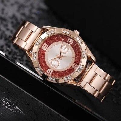 Women's Watches New Famous Luxury Brands Women Watch Fashion Rhinestone Stainless Steel Quartz Ladies Wristwatches Reloj Mujer 3