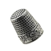 New Sewing Thimble Finger Protector Classical Pattern Hard Metal Thimble Sewing Tools Needles Partner Costura 2.3cm