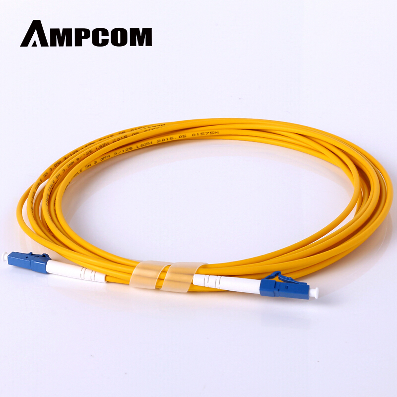 AMPCOM LC LC Fiber Patch Cable Simplex 9/125 LC/UPC To LC/UPC Singlemode Jumper Single Mode Patch-Cord Lc/lc SMF