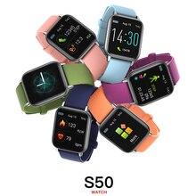 S50 1.3นิ้วสมาร์ทนาฬิกาผู้ชายฟิตเนส Tracker ความดันโลหิตผู้หญิงการตรวจสอบการนอนหลับ Smartwatch กันน้ำ