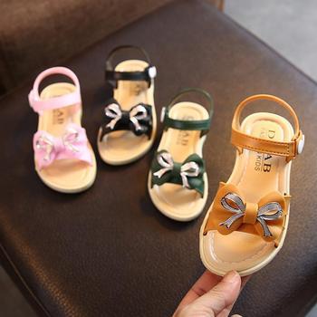 Girls Children Sandals New Sandals Kids Summer Girls Shoes Bow&diamond Child Sandals Green&yellow &Pink&black Shoes Girls