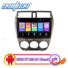 SWITNAV Android 8.1 CAR DVD Player For HONDA CITY 2008-2011 (Manual A/C) car audio gps Multimedia(China)