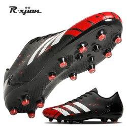 Unisex Soccer Shoes Long Spikes  Ankle Football Boots FG Outdoor Grass Cleats Football Shoes chuteira futebo Men EU Size 28-44