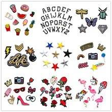 (30 pacotes diferentes podem escolher) bordados parches ferro em remendos para roupas listras diy roupas adesivos apliques emblemas