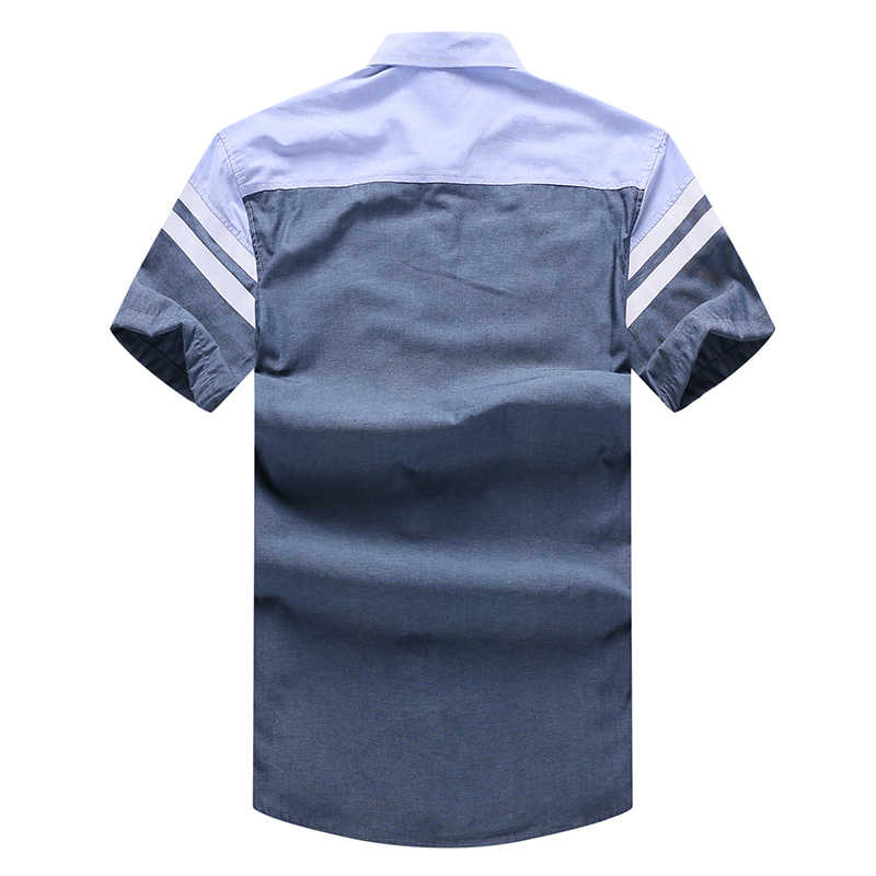 10XL 8XL 6XL 5XL 4XL Mannen Shirt Merk Luxe Mannen Katoen Korte Mouwen Jurk Shirt Turn-Down Kraag vest Shirt Mannen Kleding