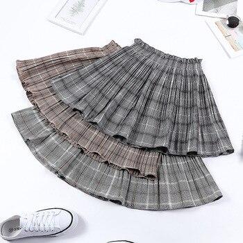 2020 Women's New Elastic Waist Pleated Skirt High Waist Wrinkled Skirt Tartan Skirt Women's Summer Skirt harajuku midi skirt skirt moe skirt