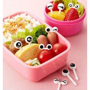 10 unids/set De palillos para fruta, bonitos tenedores De ojos, accesorios Bento, palillos decorativos para comida, palillos coreanos, tenedores De postre