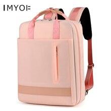 Kadın oxford dizüstü bilgisayar sırt çantası büyük kapasiteli su geçirmez USB şarj okul çantaları genç kızlar için Unisex 15.6 inç seyahat çantası