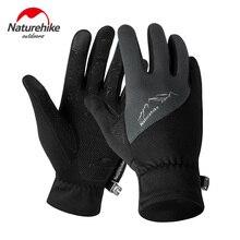 Naturehike для мужчин и женщин, для улицы, легкие, для холодной погоды, водонепроницаемые, Зимние перчатки для бега, сенсорный экран, перчатки для пешего туризма, перчатки для бега