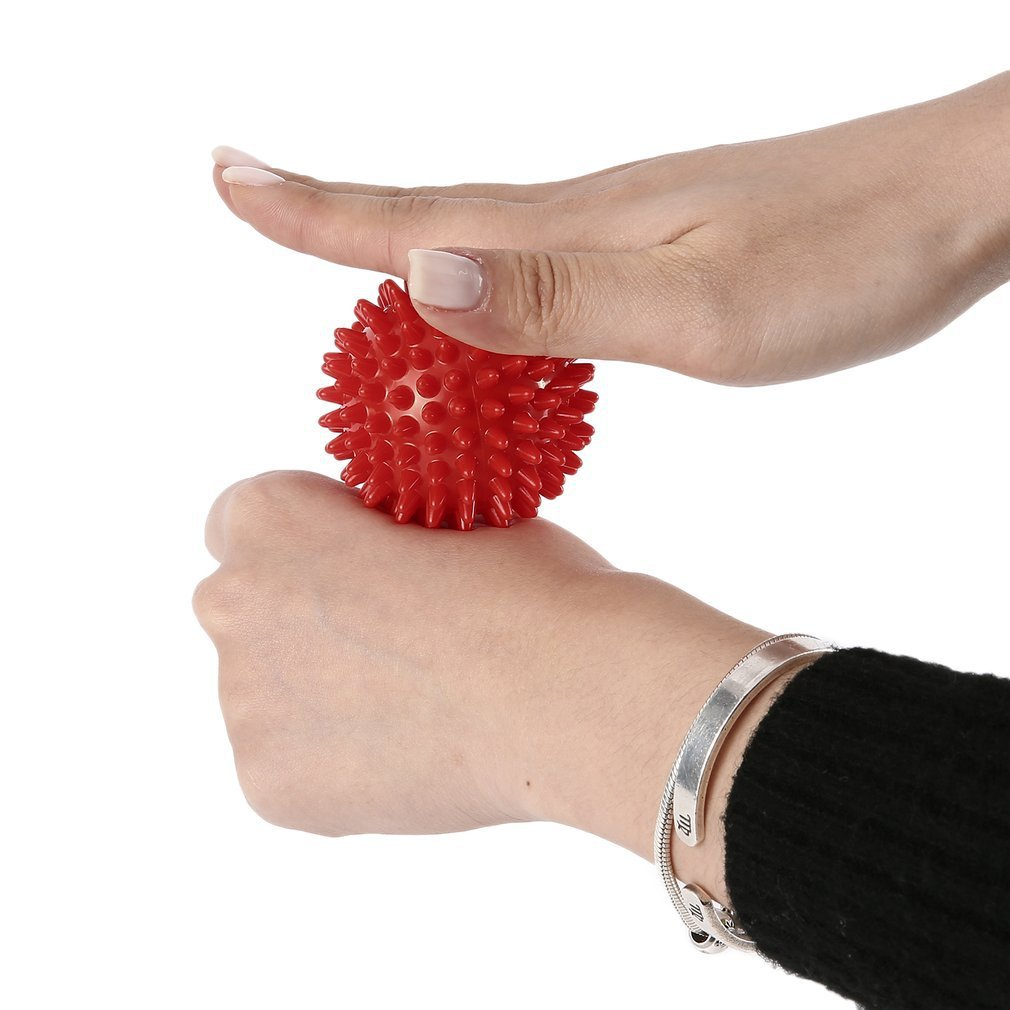 Durable PVC Spiky Massage Ball Trigger Point Sport Fitness Hand Foot Pain Relief Body Treatment Ball Freeshipping DROPSHIPPING