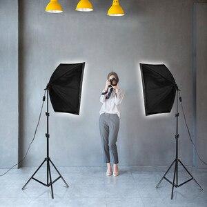 Image 5 - Softbox Kit di Illuminazione Studio Professionale Attrezzature Continua con 20W HA CONDOTTO 5500K E27 Presa di Luce per la Fotografia