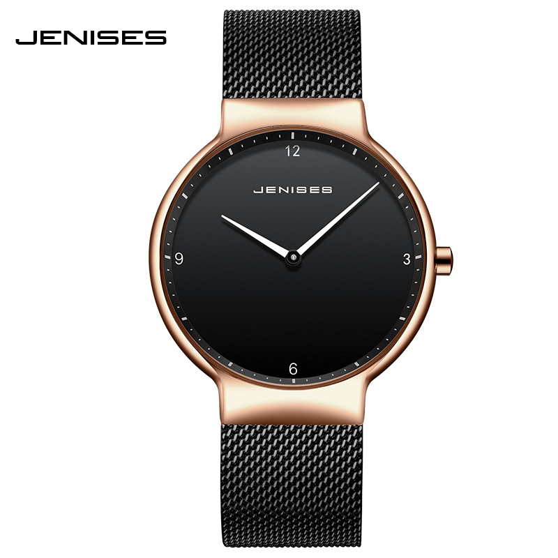 Fashionable European And American Couple Watch Mesh Belt Simple Waterproof Tide Quartz Watch