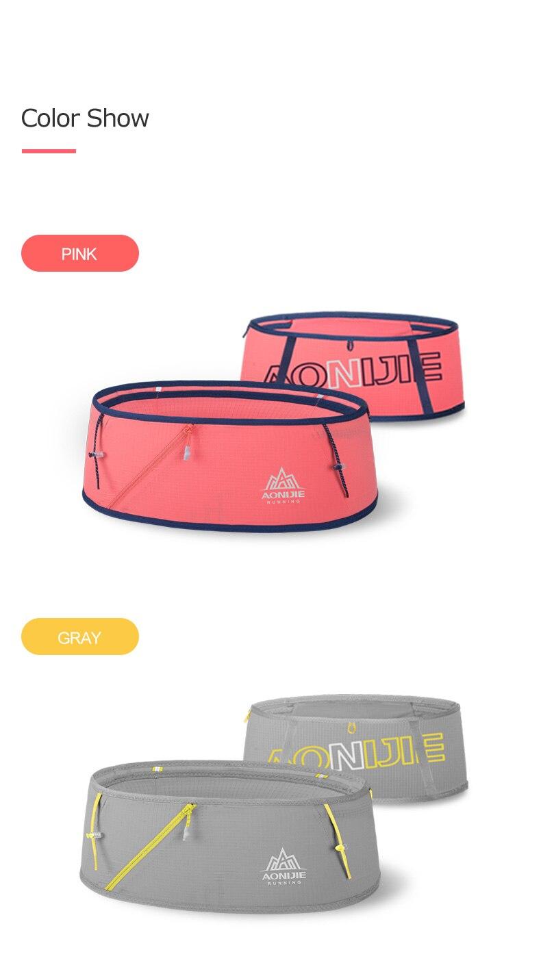 Aonijie magro jogging correndo cinto pacote saco