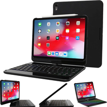 Tablet Case For iPad Pro11 with Wireless Bluetooth Keyboard 360 Rotating Screen Auto Wake Smart Cover Rotatio ipad pro 11 case