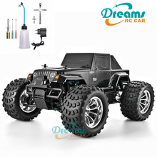 цена на HSP RC Truck 1:10 Scale Nitro Gas Power Hobby Car Two Speed Off Road Monster Truck 94188 4wd High Speed Hobby Remote Control Car