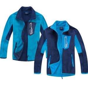 Image 1 - Marka antystatyczna Polar runo ciepły płaszcz dziecięcy Patchwork chłopcy kurtki ubrania wierzchnie dla dzieci stroje dla dzieci w wieku 3 14 lat