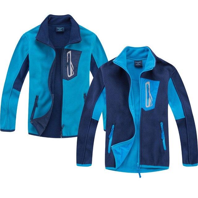 Marka antystatyczna Polar runo ciepły płaszcz dziecięcy Patchwork chłopcy kurtki ubrania wierzchnie dla dzieci stroje dla dzieci w wieku 3 14 lat