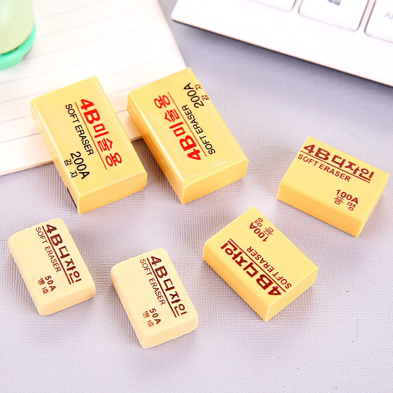 1Pcs 4B Painting Rubber Erasers Durable Flexible Pencil Eraser Students Stationery School Supplies For Children Kids Gift