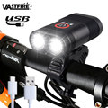 USB Rechargeable Built in Battery Bike Headlight 2x XM L T6 LED High Light Cycling Lamp Front Bicycle Flashlight Torch|Bicycle Light|Sports & Entertainment -