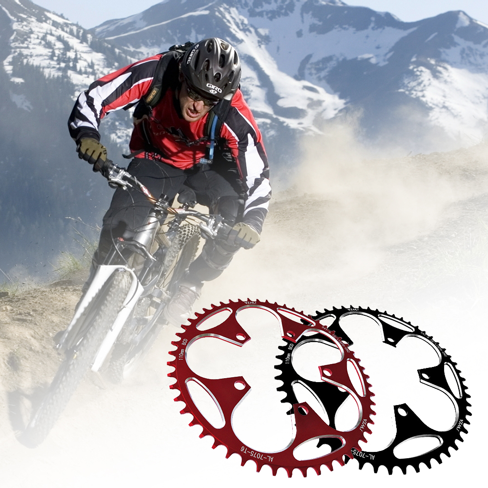 Chain Wheel Road Bicycle Parts Crankset Folding Bike Chainring <font><b>110BCD</b></font> <font><b>50T</b></font> 52T Gear Disc Road Bicycle Chain Ring Chainwheel 1pc image