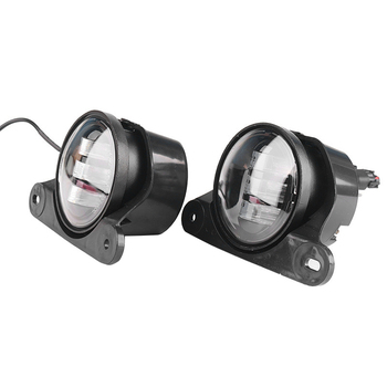 2 Pcs Modified LED Fog Lights 4-Inch Front Bumper Fog Lights for Jeep Wrangler 10Th Anniversary Edition