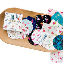 45 pièces/boîte Kawaii Flamingo Mini papier journal intime étiquette d'étanchéité décoratif bricolage journal scrapbooking autocollant papeterie pour enfants