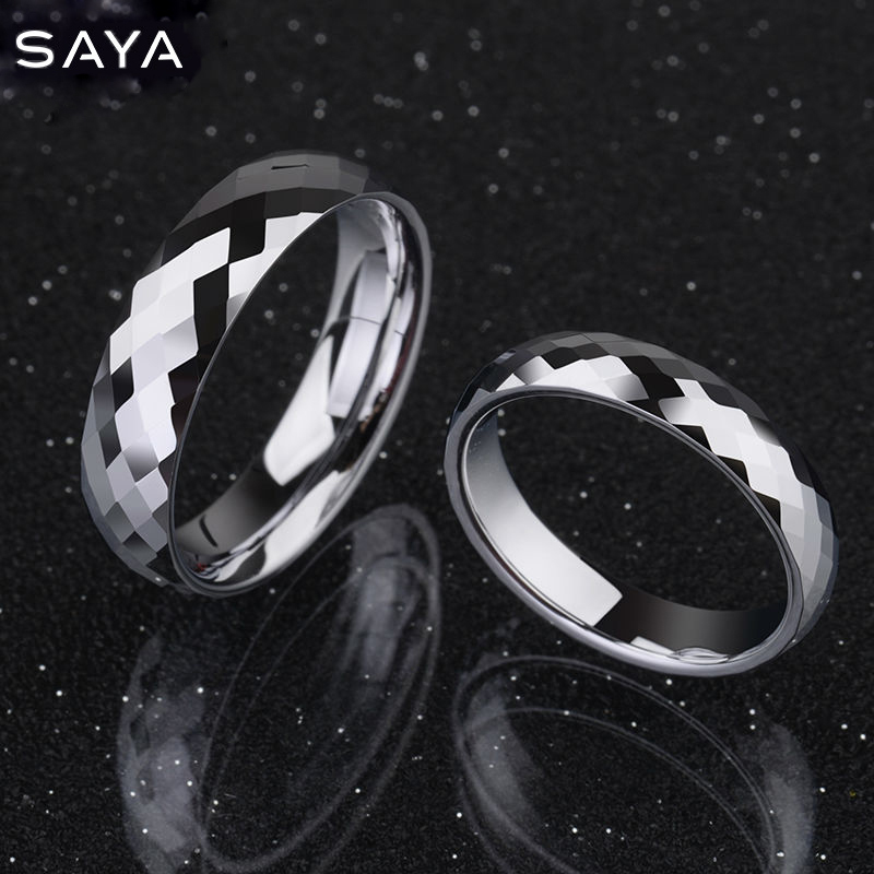 White Tungsten Wedding Rings 3.5mm/5mm Width Dome Band Comfort Fit High Polished Alliance for Wedding, Free Shipping, Customized