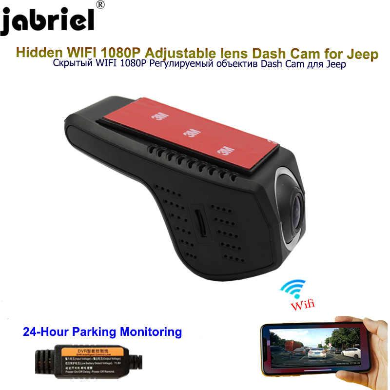 Jabriel Verborgen 1080P Wifi auto dvr dash cam camera voor jeep grand cherokee wk2 wj zj kompas renegade wrangler jk patriot buluo
