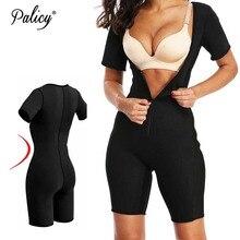 Cintura quente formador corpo mulheres emagrecimento sauna terno neoprene underbust bodysuit fajas perna shapewear com zíper mais tamanho