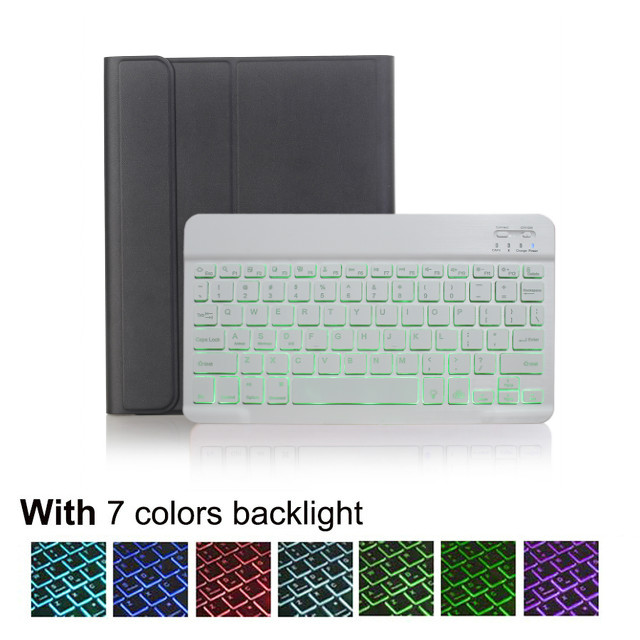 Light keyboard case Beige For IPad 10 2 8 7 Generation 8th 2020 Case A2200 A2198 A2232 Slim Magnetic Bluetooth