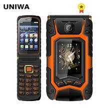 UNIWA X9 X28 Флип Мобильный телефон для пожилых людей 16800mAh gsm большая кнопка Dual SIM FM Русский Иврит Клавиатура рукописного ввода чехлов для телефонов SOS