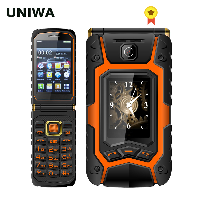 UNIWA X9 X28 Flip Mobile Senior Phone 16800mAh GSM Big Push-Button Dual SIM FM Russian Hebrew Keyboard Handwriting SOS Phone